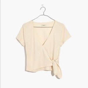 MADEWELL Texture and Thread Wrap Tie Top XS